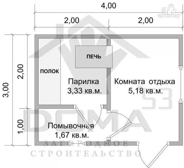 Баня своими руками проекты планировка 3х4 19