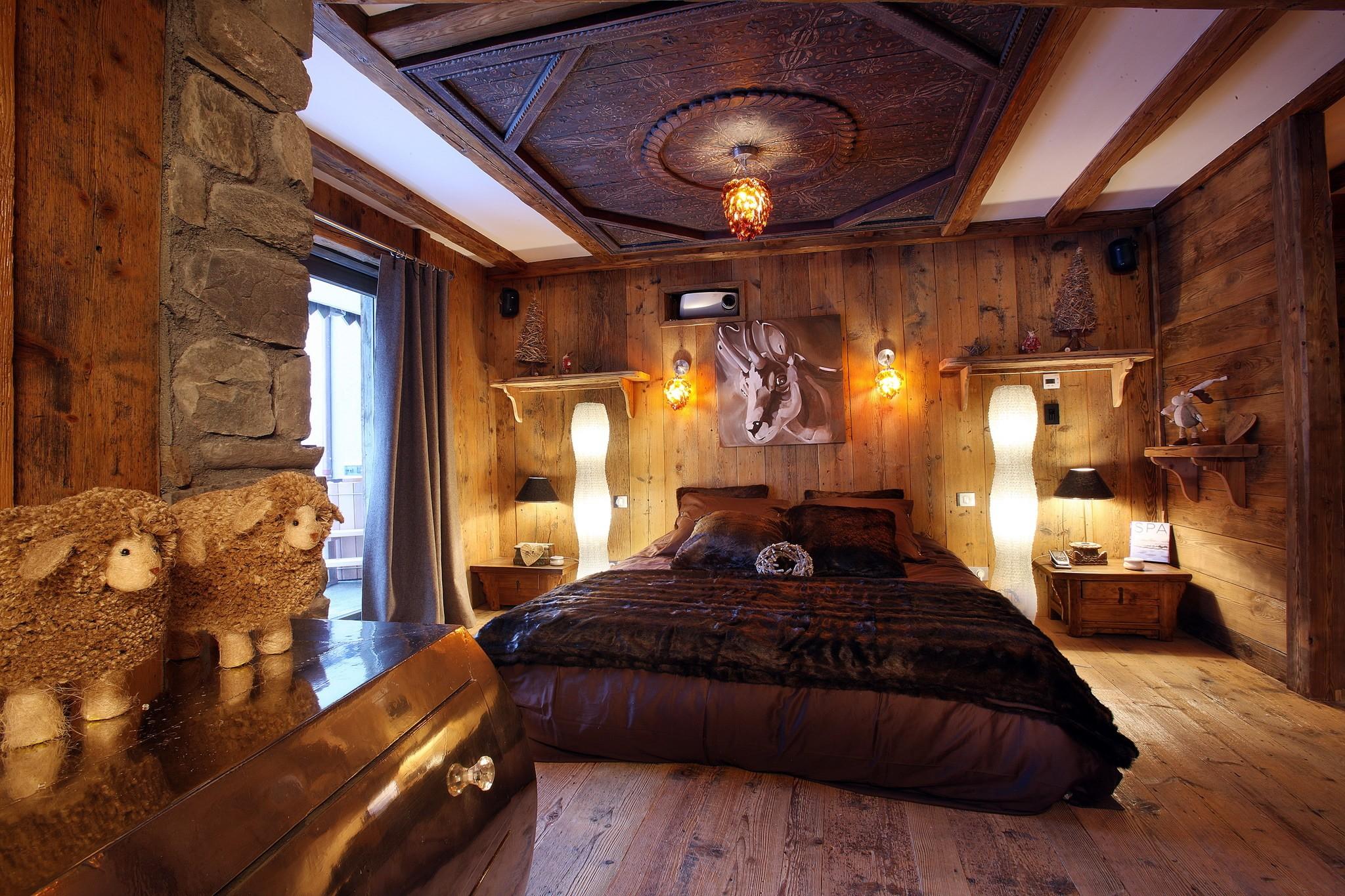 Интерьер спальня комната кровать  № 3537180  скачать