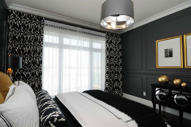 Het ontwerp van het raamkozijn in de slaapkamer