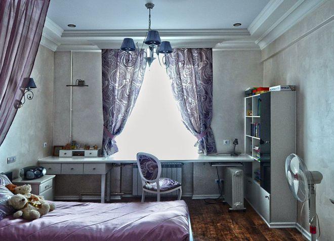 Slaapkamerontwerp voor een tiener. moderne en stijlvolle slaapkamer