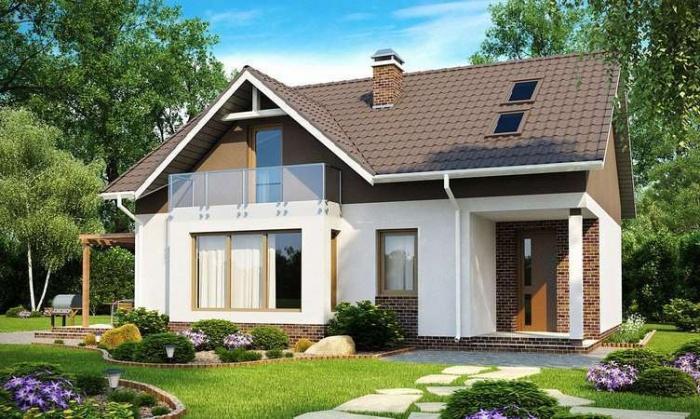 Interne lay out van frame huis met zolder varianten van